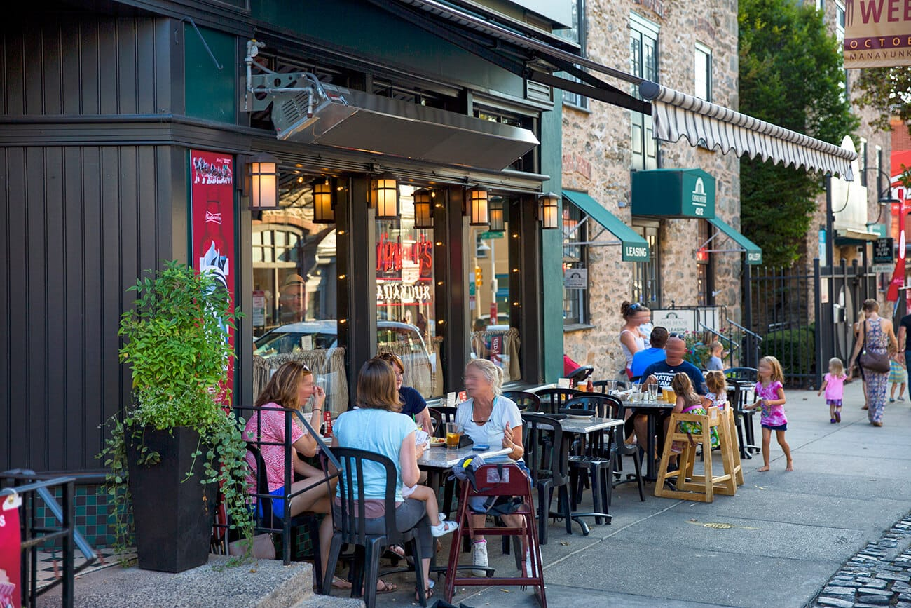 Enjoy A Meal At One Of The Many Restaurants Lining The Streets Of
